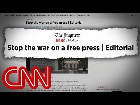 Nationwide editorials condemn President Trump's attacks on media