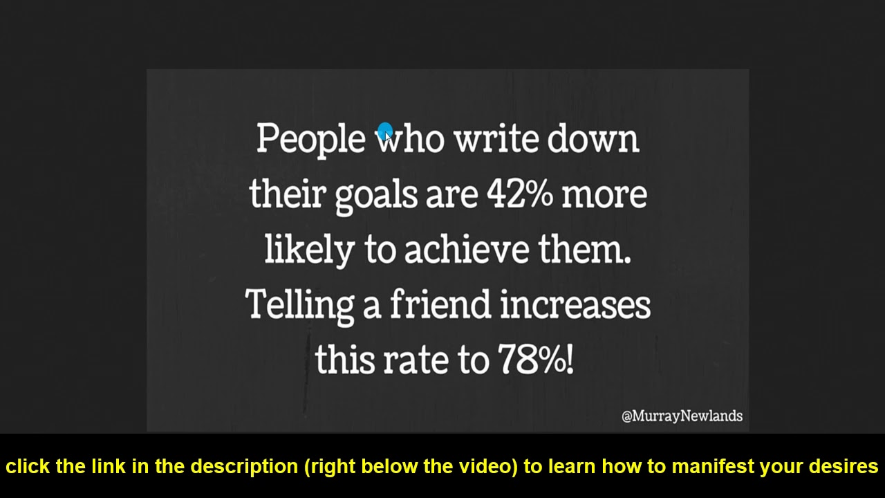 Why Writing Down Your Goals Will Help To Manifest Your Desires The Life You Want In 2019 Youtube