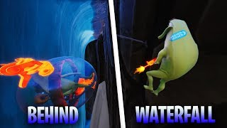 *NEW* BEHIND WATERFALL GLITCH IN FORTNITE SEASON 8 - SECRET SPOT BEHIND WATERFALL