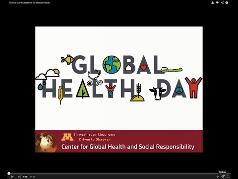 Ethical Considerations for Global Health