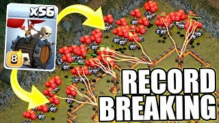 NEW WORLD RECORD SKELETON ARMY!! - SKELETON BARREL OVERRUN! - Clash Of Clans