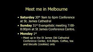 Meet Me in Melbourne March 30, 31, Apr 1 2019