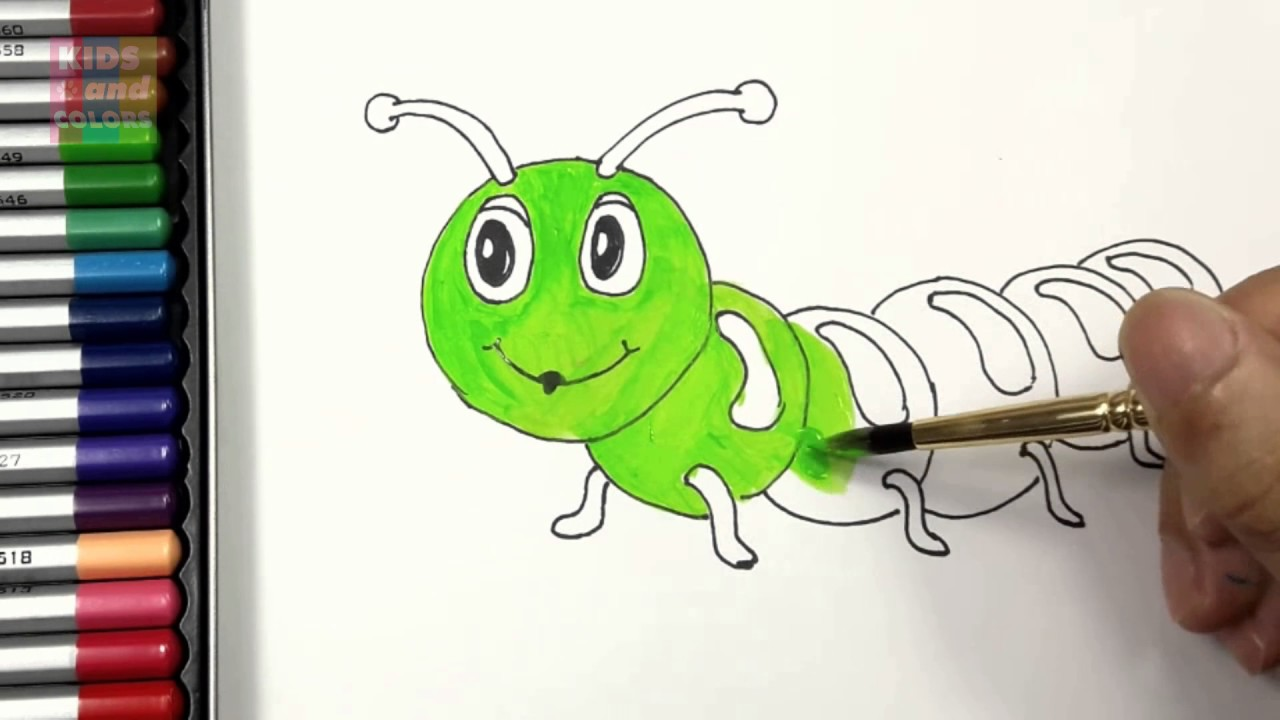 Caterpillar Coloring Page   Art for Kids How to Draw and Color ...