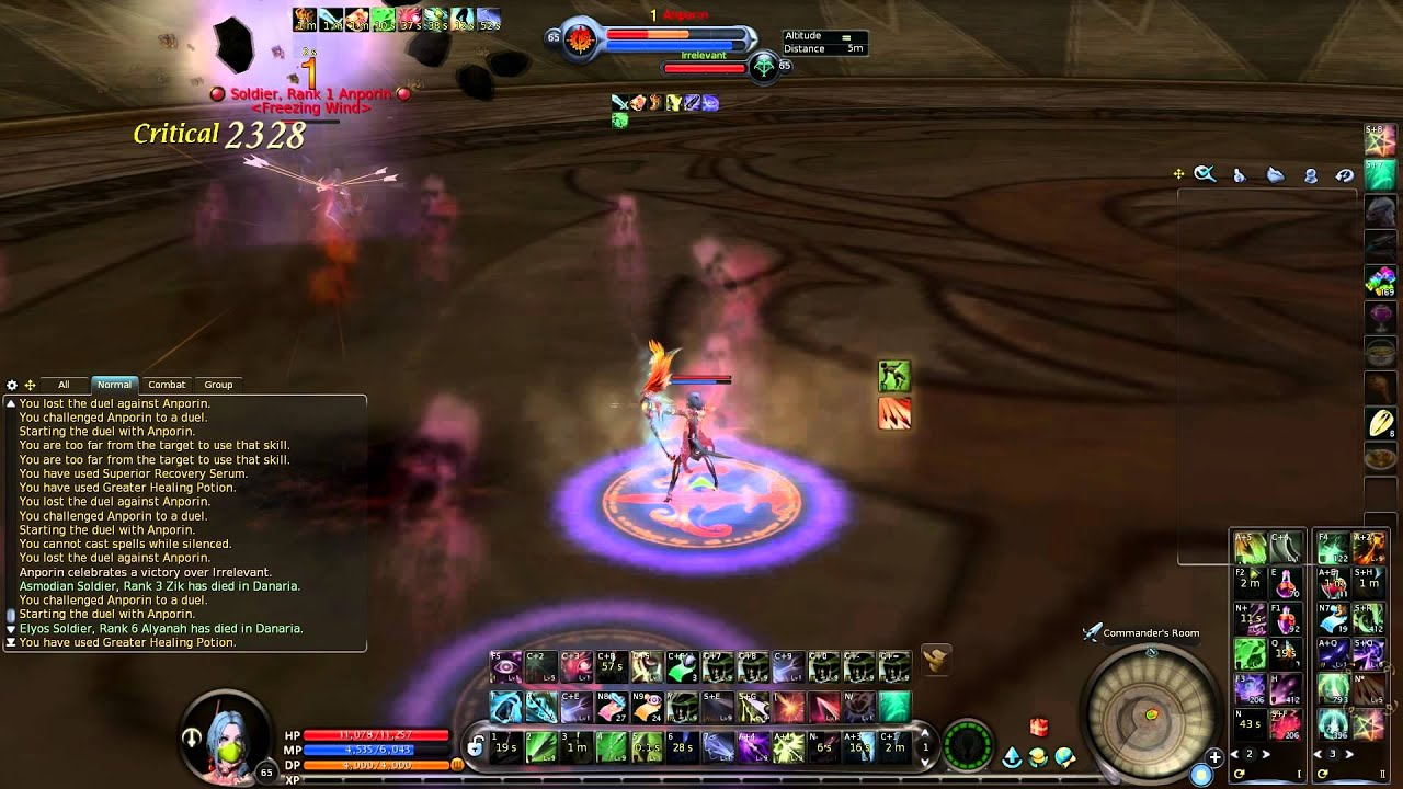 Aion 5.4 Best Ranger PvP Customised Skill Use - YouTube