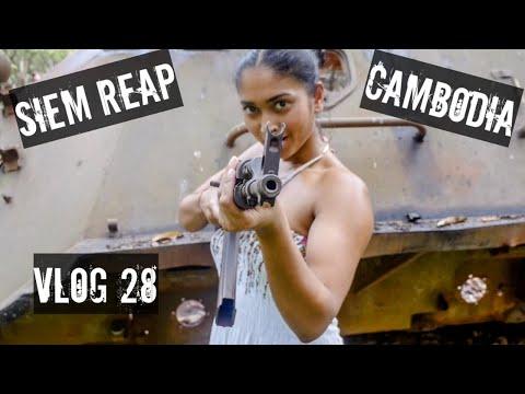 EPIC SIEM REAP CAMBODIA TRAVEL VLOG - PART 1: HAPPY PIZZA, PUB STREET & MACHINE GUNS - VLOG 28