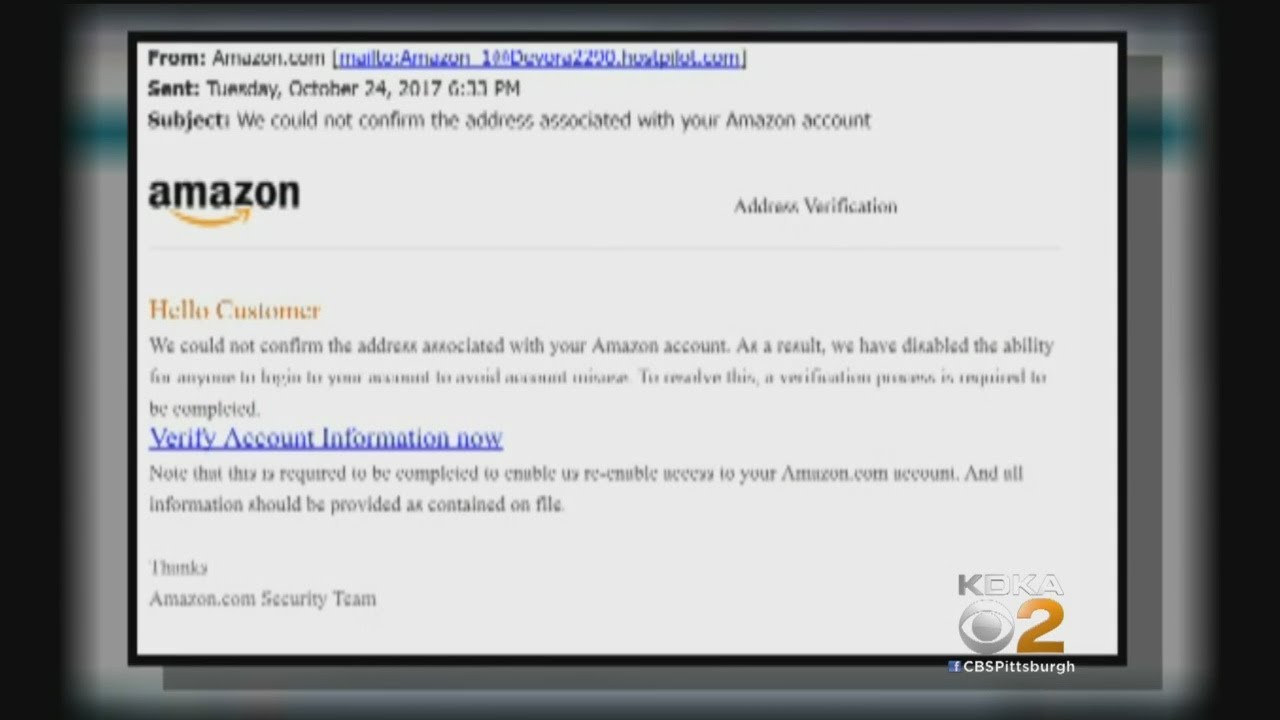 Amazon Customers Targeted In Email Scam