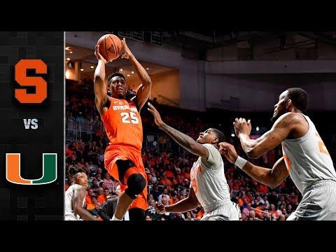Syracuse vs. Miami Basketball Highlights (2017-18)
