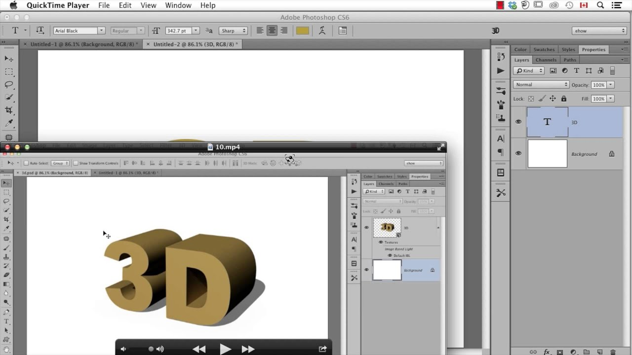 How to Export an OBJ From Photoshop CS6 Extended : Important Photoshop Tips