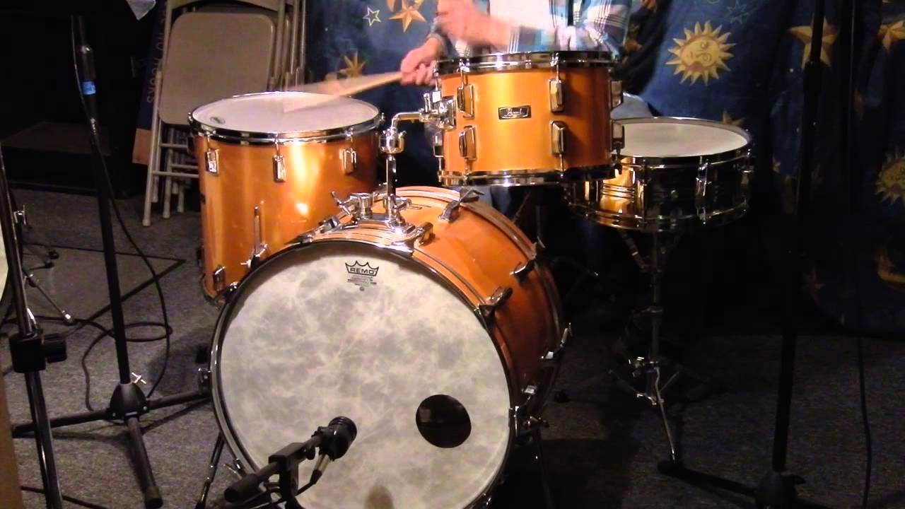 Pearl Satin Gold Fiberglass Drums Hd Demo