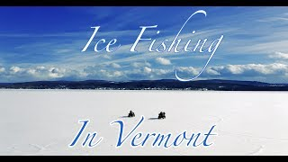 Ice Fishing on Lake Champlain by northernvermontaerial.com