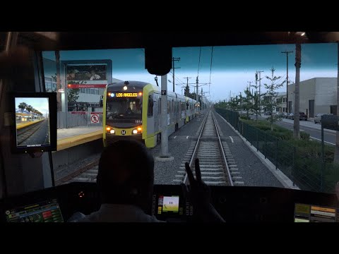 Riding Metro Expo Line to Santa Monica