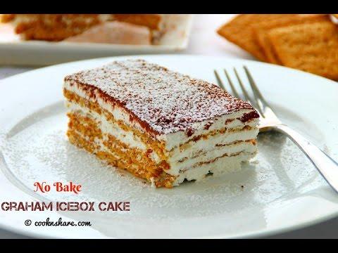 No Bake Graham Icebox Cake - 4 Ingredients