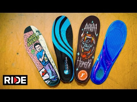 Skate Insoles Tested: Jaws FP, Remind Chico, Hockey & Dr. Scholls