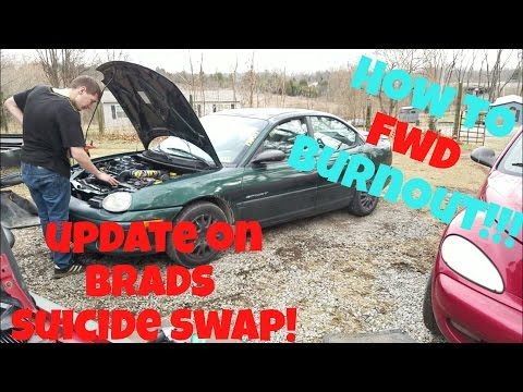 HOW TO BURNOUT IN FWD AUTOMATIC & UPDATE ON BRADS CAR!