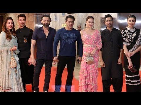 Bollywood Celebs At Ramesh Taurani's GRAND Diwali Party   Salman Khan,Bipasha,Bobby,Sonakshi,Vicky Mp3
