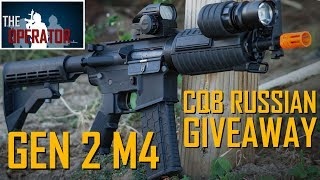 GIVEAWAY! $110 Airsoft M4! Lancer Tactical Gen 2 - CQB Russian First Impressions