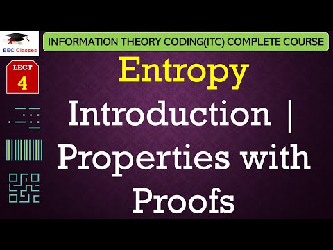 Entropy Introduction, Properties of Entropy with Proofs - Information Theory Coding Lectures Hindi