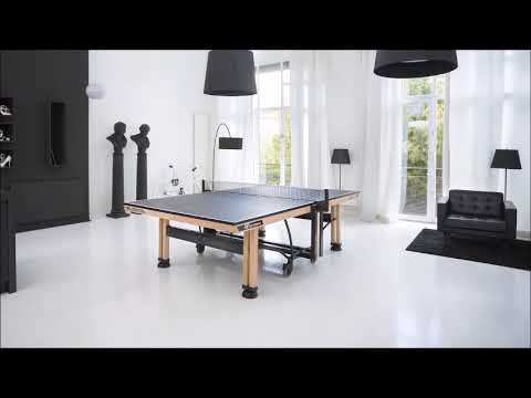 Cornilleau 850 wood table tennis table product video youtube for Table 850 wood