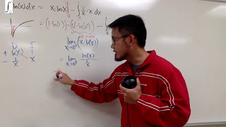 improper integral of ln(x) from 0 to 1, two ways, ft Oon Han