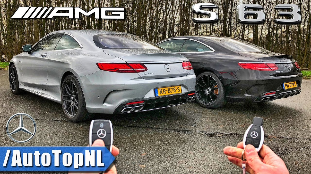 2018 mercedes amg s63 coupe vs s63 amg coupe review pov autobahn old vs new by autotopnl. Black Bedroom Furniture Sets. Home Design Ideas