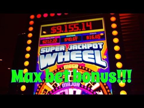 Super Jackpot Wheel slot machine, Max bet bonuses! by Multimedia Games, slot machine bonus