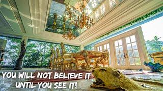 Abandoned billionaire criminal mansion (MILLIONS OF ANTIQUES LEFT)