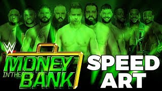 WWE Money In The Bank 2018 - Men's Contract Ladder Match Poster Speed Art (Photoshop)