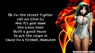 Gambar cover Nicki Minaj - Fireball Verse Lyrics Video