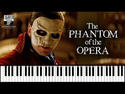 Призрак Оперы песня из мюзикла на пианино / The Phantom Of The Opera Theme Song Piano Cover