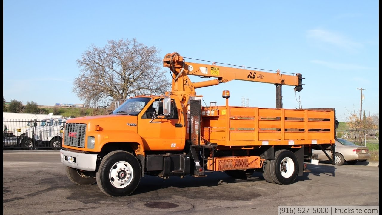 Gmc Truck For Sale >> 1994 GMC C7500 JLG 600BT 6 Ton Crane Truck for sale - YouTube