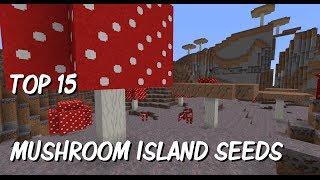 Top 15 Mushroom Island at Spawn Seeds - sZPeddy's Minecraft Seed Finder - Spotlight on awesome seeds
