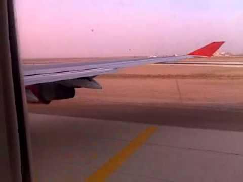 air india landing at king khalid airport riyadh.mp4