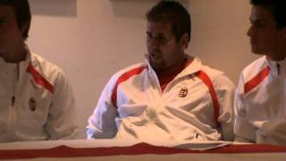 Draw ceremony- Hungary- Belarus 2011 davis Cup by BNP Paribas