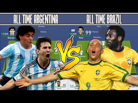 ARGENTINA'S ALL TIME XI VS BRAZIL'S ALL TIME XI - FIFA 19 EXPERIMENT