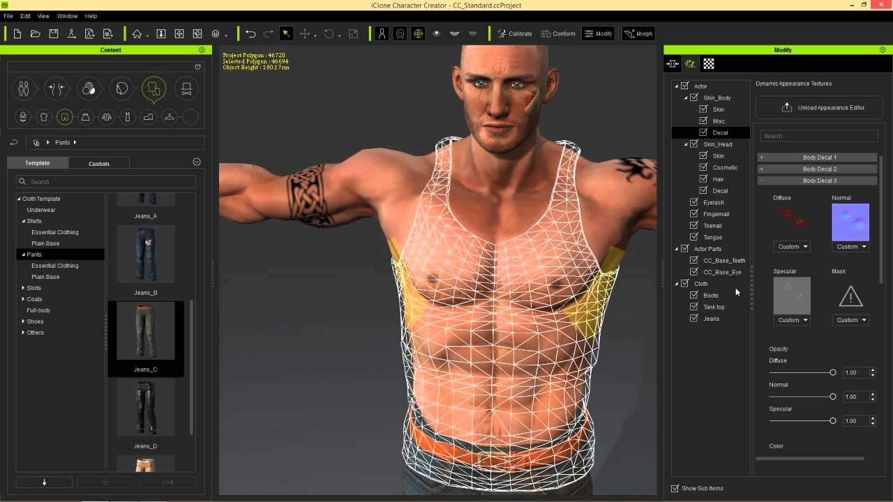Character Design Creator : Iclone character creator tutorial adding custom decals