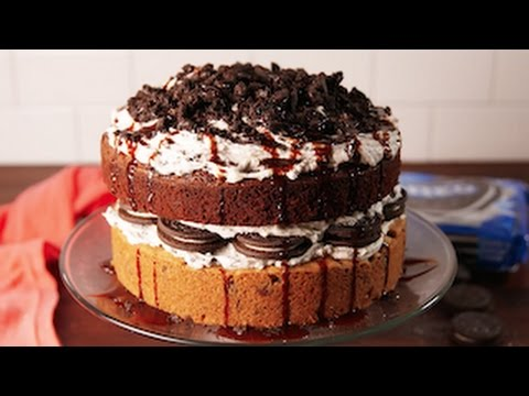 Mint chocolate chip ice cream cake recipe with oreo brownie mix