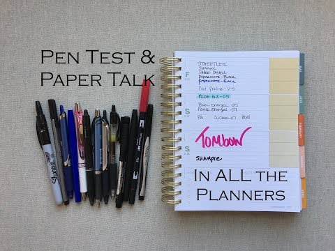 Pen Testing & Paper talk in EVERY PLANNER!  Tons of Pens, Tons of Planners!