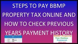 Property Tax Payment BBMP Karnataka 2020 2021 online