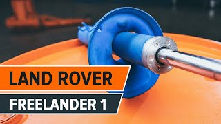 Hogyan cseréljünk Lengéscsillapító LAND ROVER FREELANDER (LN) - online ingyenes videó