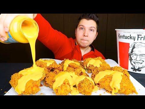 Cheesy KFC • Exposing SAS-ASMR With Receipts (Hot Tea) • MUKBANG