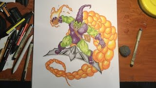 Speed Drawing: Green Goblin