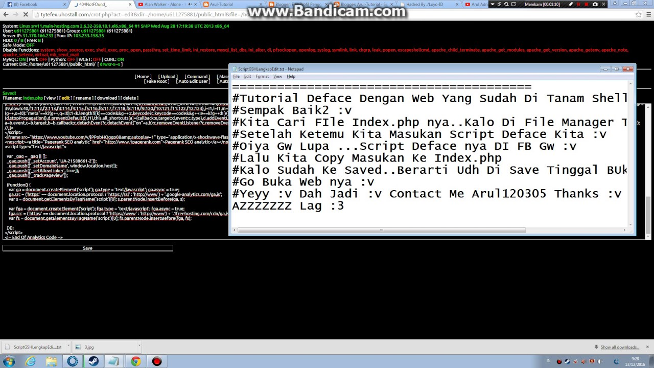 tutorial deface web yang sudah di tanam shell