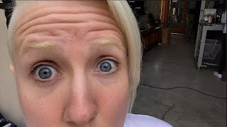 BLEACHED MY EYEBROWS!! (big mistake!)