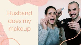 Husband does my makeup kihívás | Inez Dragos