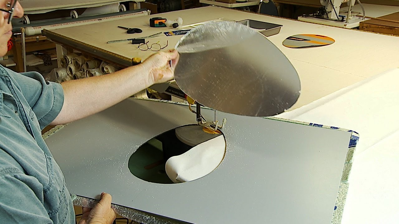 How To Cut Shaped Hole In An Acrylic Plexigl Mirror Sheet