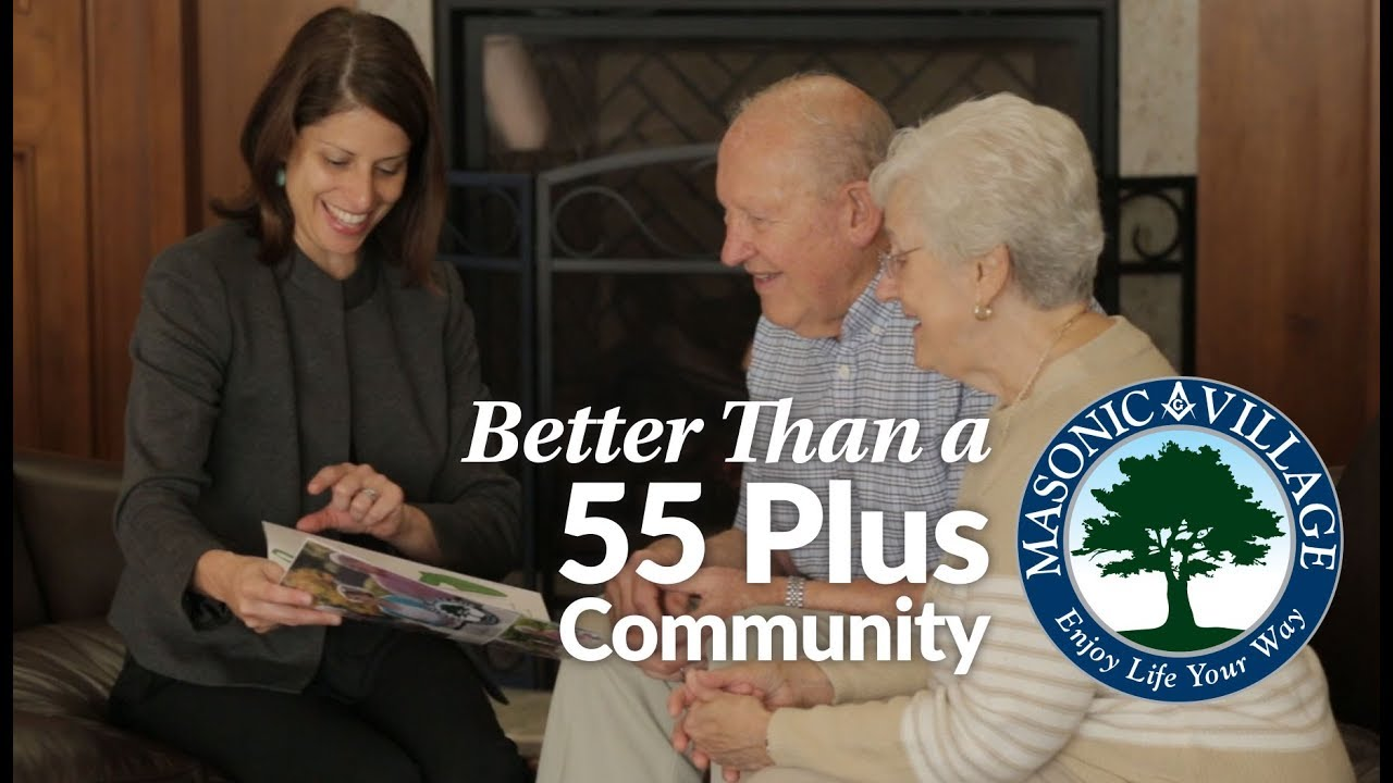 Learn how Masonic Village is better than a 55 plus community