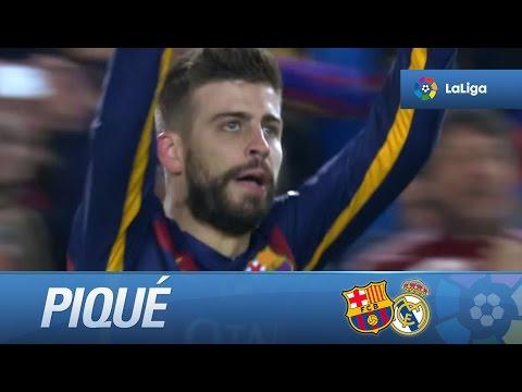 Gol de cabeza de Piqué (1-0) en el FC Barcelona - Real Madrid thumbnail