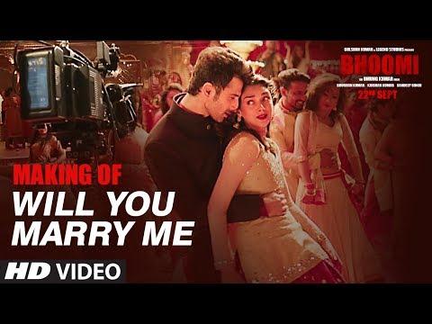 Making Of Will You Marry Me Video Song    Bhoomi   Aditi Rao Hydari, Sidhant   Sachin - Jigar