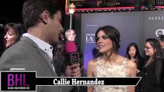 Callie Hernandez Interview | La La Land Premiere