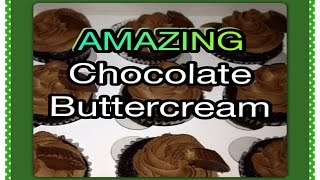Tutorial | How To Make Amazing Chocolate Buttercream / Icing / Frosting / Recipe - Sharron's Take